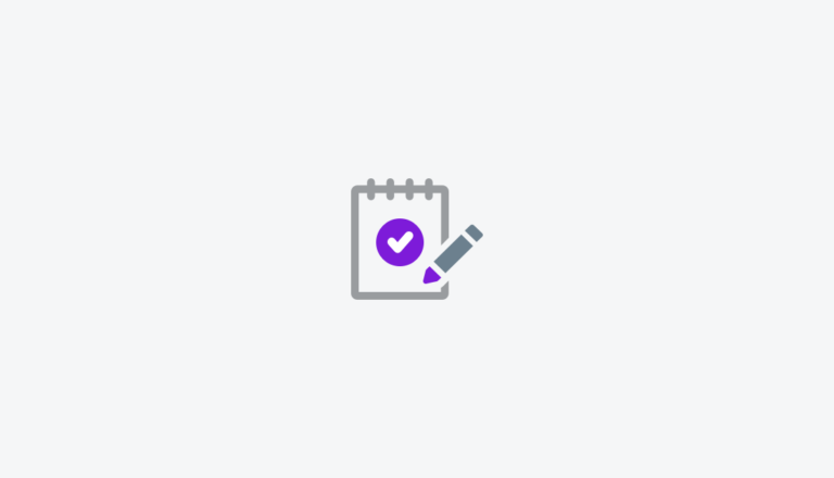 Icon of a notepad with checklist and a pencil
