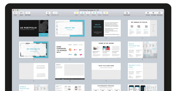 UX Portfolio Template For Keynote And PPT